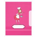 Divisor/cubierta de la página del cocinero membretes personalizados