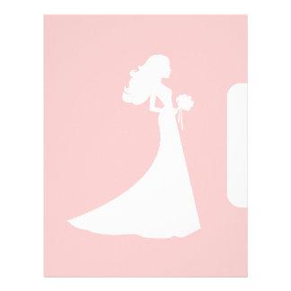 Divisor de la página para la carpeta de la novia membretes personalizados