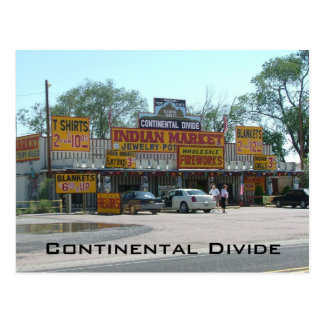 Divisoria continental tarjeta postal