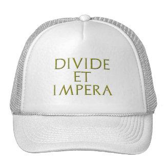 Divisoria y gorra de Impera