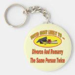 Divorce And Marry Basic Round Button Keychain
