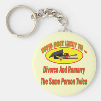Divorce And Marry Key Chains