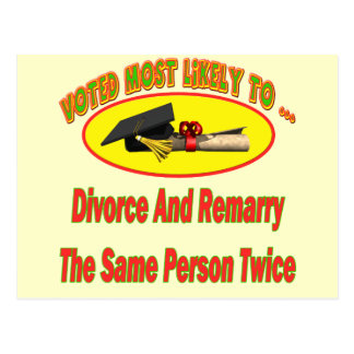 Divorce And Marry Postcards