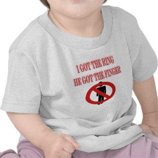 Divorce Breakup No Man Symbol  I Got The Ring Tshirt