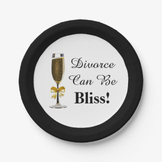 Divorce Can Be Bliss Party Celebration Paper Plate