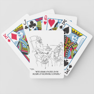 Divorce Cartoon 1309 Bicycle Playing Cards