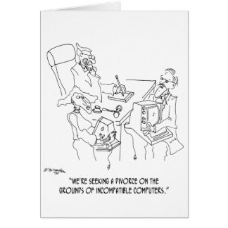 Divorce Cartoon 1309 Card