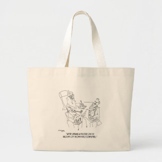 Divorce Cartoon 1309 Large Tote Bag