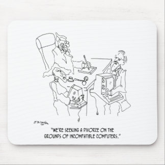 Divorce Cartoon 1309 Mouse Pad