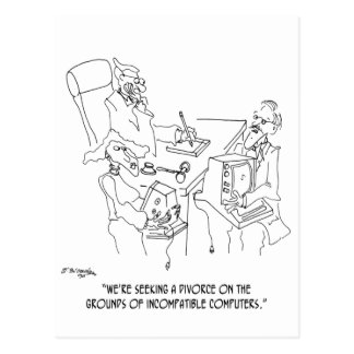 Divorce Cartoon 1309 Postcard