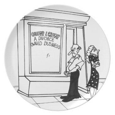 Divorce Cartoon 2458 Melamine Plate