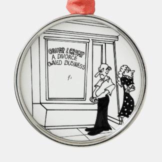 Divorce Cartoon 2458 Metal Ornament