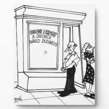 Divorce Cartoon 2458 Plaque