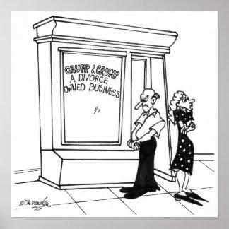 Divorce Cartoon 2458 Poster