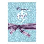 Divorce Celebration - Blue and Purple Damask Card