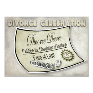 DIVORCE CELEBRATION INVIATION - DECREE CARD