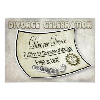 DIVORCE CELEBRATION INVIATION - DECREE CARD