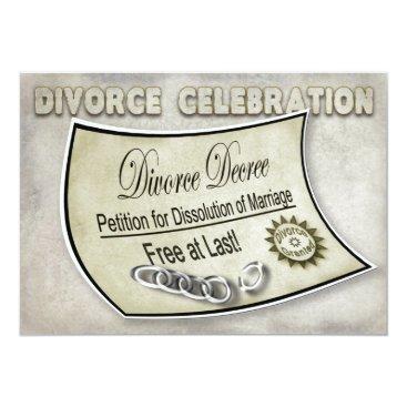 divorce DIVORCE CELEBRATION INVIATION - DECREE CARD