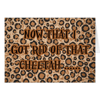 Divorce Cheater Cheetah Invitation Party