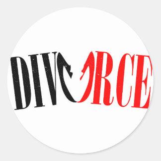 Divorce Classic Round Sticker