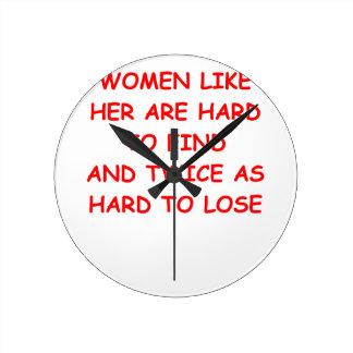 divorce round wall clock