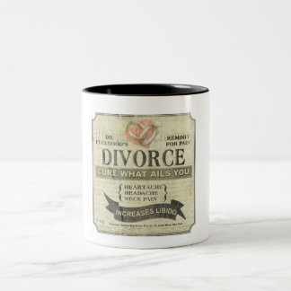 Divorce Cure What Ails You Vintage Mug