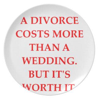 divorce dinner plate