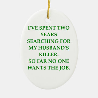 divorce Double-Sided oval ceramic christmas ornament