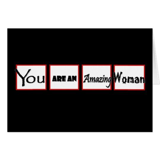 Divorce Encouragement You are an AMAZING Woman Card