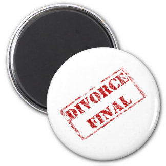 Divorce Final Stamp 2 Inch Round Magnet