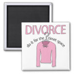 Divorce for the closet space 2 inch square magnet