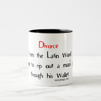 Divorce from the Latin word meaning Two-Tone Coffee Mug