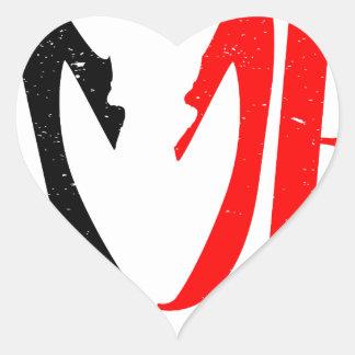 Divorce Heart Sticker