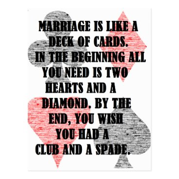 divorce Divorce: Humor Postcard