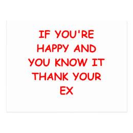 divorce joke postcard