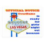Divorce Las Vegas Style Announcement Postcard