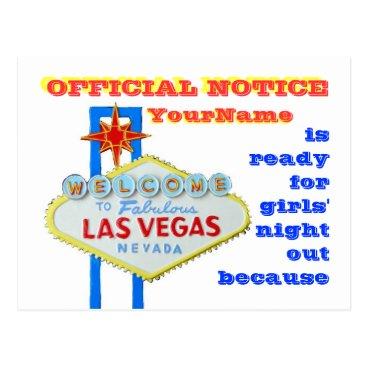 divorce Divorce Las Vegas Style Announcement Postcard