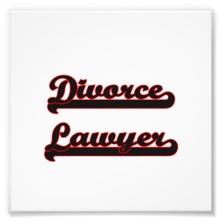 Divorce Lawyer Classic Job Design Photo Print