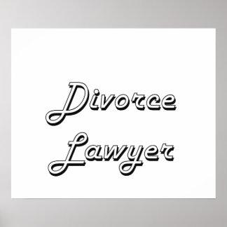 Divorce Lawyer Classic Job Design Poster