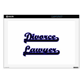 "Divorce Lawyer Classic Job Design Skin For 17"" Laptop"