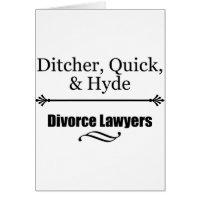 Divorce Lawyers Card