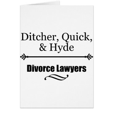 divorce Divorce Lawyers Card