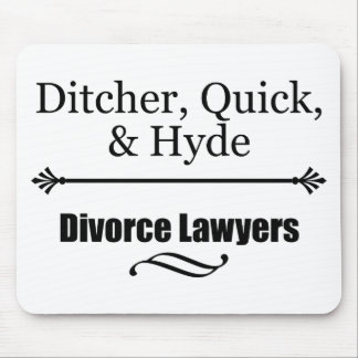 Divorce Lawyers Mouse Pad