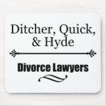 Divorce Lawyers Mouse Pads