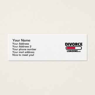 Divorce loading mini business card