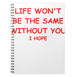 divorce spiral notebooks