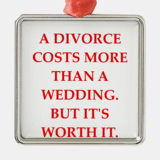 divorce christmas ornament