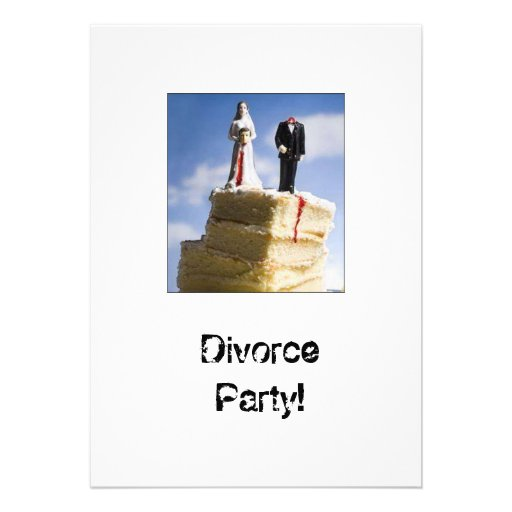 Divorce Part Invatations Personalized Invites