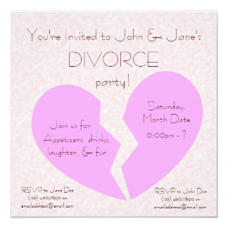 Divorce Party Card