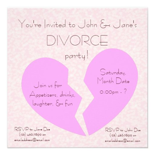 Divorce Party Invitations is an amazing ideas you had to choose for invitation design